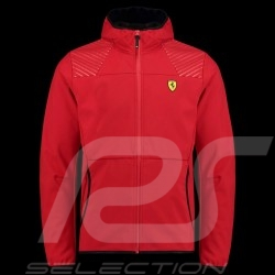 Veste Jacket Jacke Ferrari à capuche Softshell Hoodie Rouge Collection Ferrari Motorsport - homme