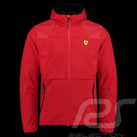 Ferrari Hoodie Jacket Softshell Red Ferrari Motorsport Collection - men