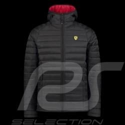 Veste Jacket Jacke Ferrari matelassée à capuche Hoodie Noir Collection Ferrari Motorsport - homme