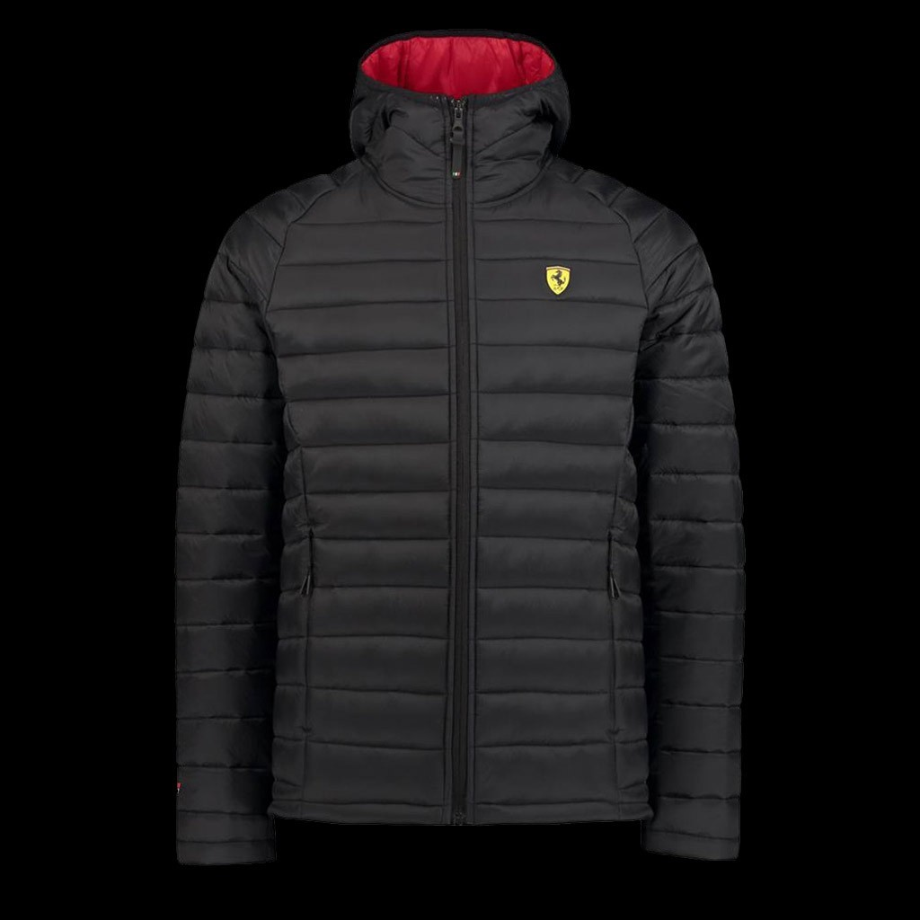 Ferrari Padded Jacket Black Ferrari Motorsport Collection Men Selection Rs
