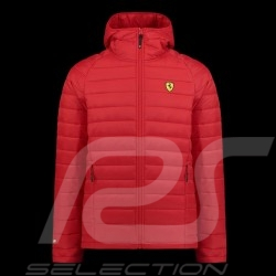Veste jacket Jacke Ferrari matelassée à capuche Rouge Collection Ferrari Motorsport - homme