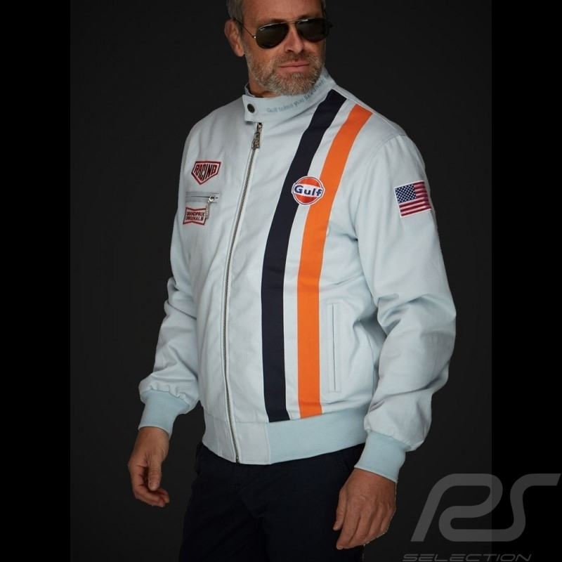 Gulf Steve Mc Queen Le Mans Jacket Cotton Gulf blue Limited edition - men