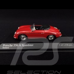 Porsche 356 A Speedster 1956 Ruby red 1/43 Minichamps 430065540