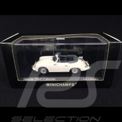 "Porsche 356 C Cabriolet 1965 blanche ""Rijkspolitie"" 1/43 Minichamps 430062390"