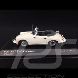 """Porsche 356 C Cabriolet 1965 weiß """"Rijkspolitie"""" 1/43 Minichamps 430062390"""