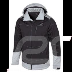 Mercedes Softshell jacket Selenite Grey / Black Mercedes-Benz B66958696 - men