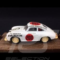 Porsche 356 Coupé n° 200 Jacqueline Evans Carrera Panamericana Eva Peron 1952 1/43 Brumm R206