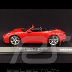 Porsche 911 type 992 Carrera 4S Cabriolet 2019 rouge Indien 1/18 Minichamps 155067331
