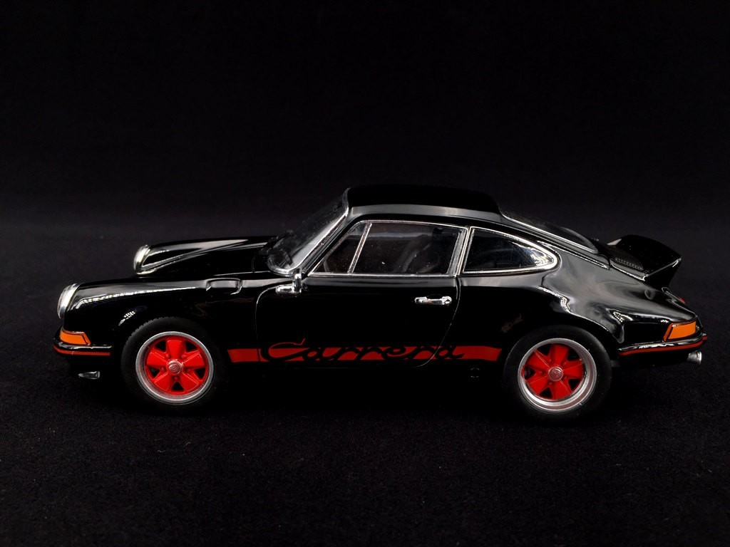 Porsche 911 Carrera Rs 2 7 1973 Black Red 1 24 Welly Map02482418 Selection Rs