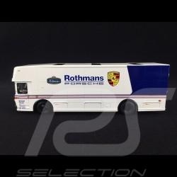 Mercedes O 317 camion Porsche transporteur Rothmans weiß 1/43 Schuco 450373100