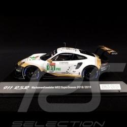 Porsche 911 RSR type 991 24h Le Mans 2019 n° 92 Porsche GT Team 1/43 Spark WAP0201480LRSR