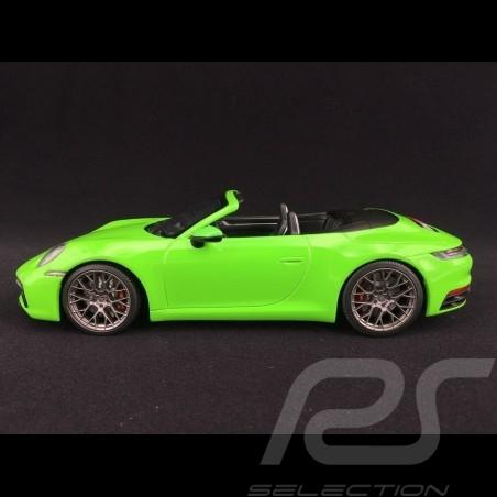 Porsche 911 type 992 Carrera 4S Cabriolet 2019 vert lézard 1/18 Minichamps WAP0211730LM6B lizard green Lizardgrün