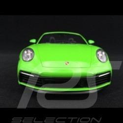 Porsche 911 type 992 Carrera 4S Cabriolet 2019 lizard green 1/18 Minichamps WAP0211730LM6B