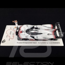 Porsche 919 Hybrid EVO Tribute n° 1 Nürburgring Rundenrekord 06/29/2018 mit Timo Bernhard figur 1/43 Spark S5847