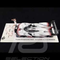 Porsche 919 Hybrid EVO Tribute n° 1 Record du tour Nürburgring 29/06/2018 avec figurine Timo Bernhard 1/43 Spark S5847