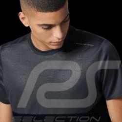 Porsche Design T-shirt Performance Asphalt grey / Black Porsche Design Colourblock Tee - men