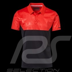 Polo Porsche Design Performance rouge / noir Porsche Design Colourblock Polo - homme