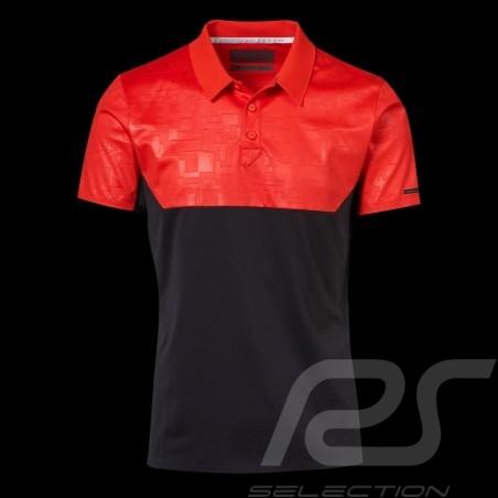 Polo Porsche Design Performance rouge / noir Porsche Design Colourblock Polo - homme