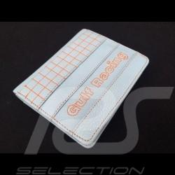 Portefeuille Gulf racing Porte monnaie et porte cartes Cuir Bleu Wallet Geldbeutel