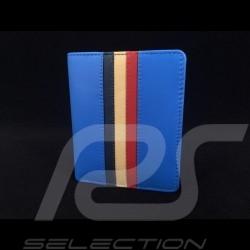 Portefeuille Gulf Porte monnaie et porte cartes Cuir Bleu cobalt wallet Geldbeutel