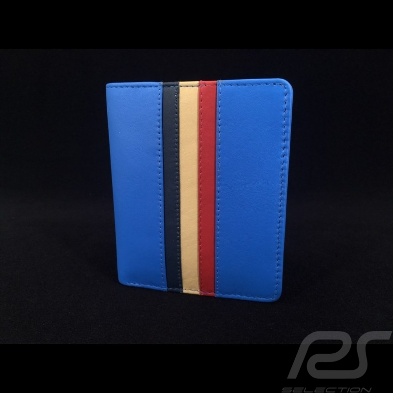 Gulf Wallet Card holder and coin purse Cobalt blue Leather