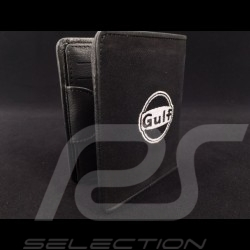 Gulf racing Wallet Card holder and coin purse black Leather