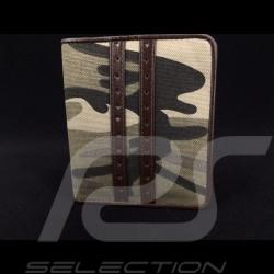 Portefeuille Gulf camouflage Porte monnaie et porte cartes Cuir Marron wallet Geldbeutel