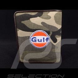 Gulf Wallet camouflage Card holder and coin purse Brown Leather