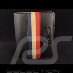 Gulf Geldbeutel vintage Brieftasche und Kartenhalter schwarz Leder