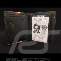Gulf Wallet vintage Card holder and coin purse black Leather