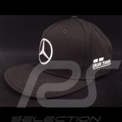 Casquette MERCEDES AMG PETRONAS MOTORSPORT Lewis Hamilton noir visière plate CAP KAPPE
