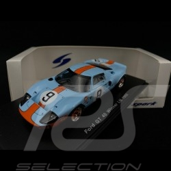 Ford GT40 Mk I n° 9 Gulf Winner Le Mans 1968 1/43 Spark 43LM68