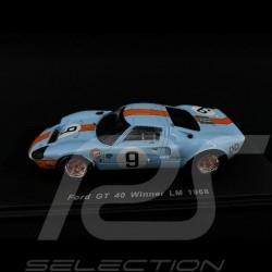 Ford GT40 Mk I n° 9 Gulf Sieger Le Mans 1968 1/43 Spark 43LM68