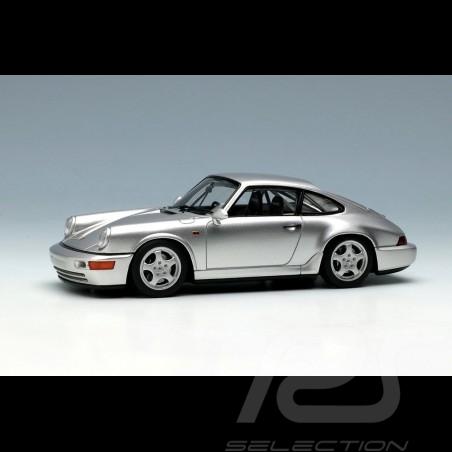 Porsche 911 type 964 Carrera RS NGT 1992 Silver grey metallic 1/43 Make Up Vision VM142D
