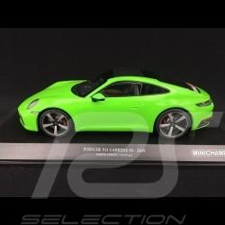 Porsche 911 type 992 Carrera 4S 2019 vert lézard 1/18 Minichamps 155067324 lizard green Lizardgrün