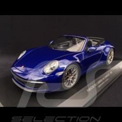 Porsche 911 type 992 Carrera 4S Cabriolet 2019 gentian blue 1/18 Minichamps 155067332
