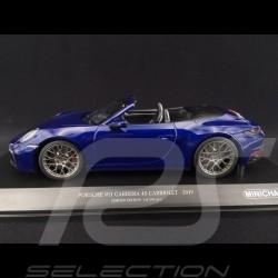 Porsche 911 typ 992 Carrera 4S Cabriolet 2019 Enzianblau 1/18 Minichamps 155067332