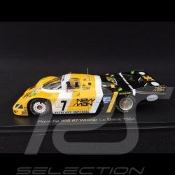 Porsche 956 Vainqueur Winner Sieger Le Mans 1984 n° 7 Newman 1/43 Spark Diecast