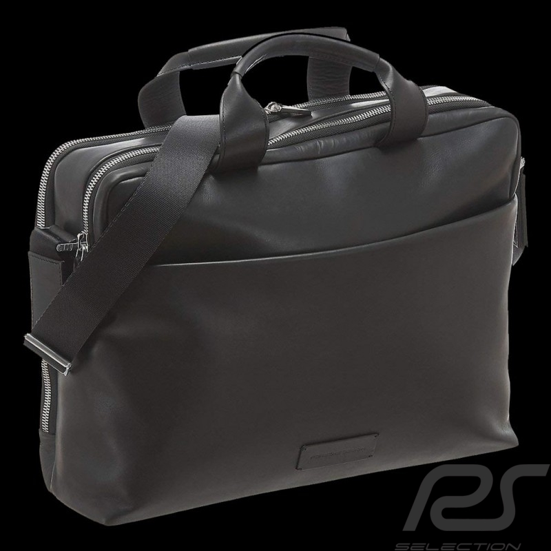 Porsche Design briefbag Urban Courier MHZ black leather Porsche Design 4090002629