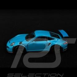 Porsche 911 GT3 RS type 991 bleu Miami 1/59 Majorette 212053052Q18