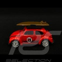 Volkswagen VW Käfer n° 19 mit Surfbrett 1/64 Majorette 212052016TO9