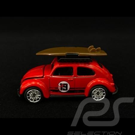 Volkswagen VW Coccinelle n° 19 avec planche de surf 1/64 Majorette 212052016TO9