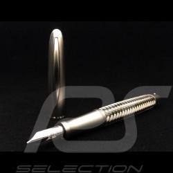 Stylo plume Porsche Design acier Tec Flex P3110 Fountain Pen Füllfederhalter