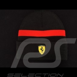 Bonnet Ferrari noir / bande rouge