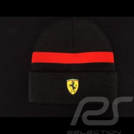 Ferrari beanie black / red stripe