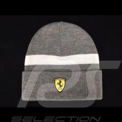 Bonnet Ferrari gris / bande blanche