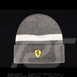 Ferrari beanie grey / white stripe