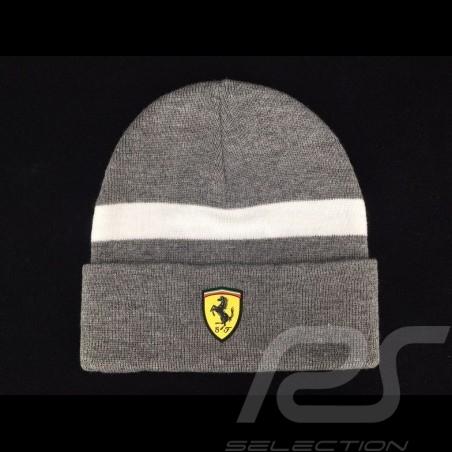 Ferrari  Mütze grau /  weißer Streifen