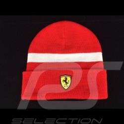 Bonnet Ferrari rouge / bande blanche
