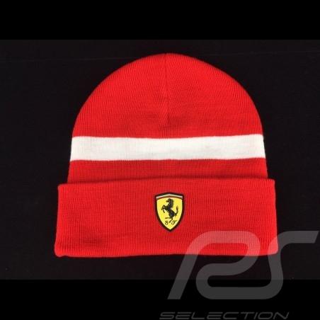 Ferrari  Mütze rot /  weißer Streifen